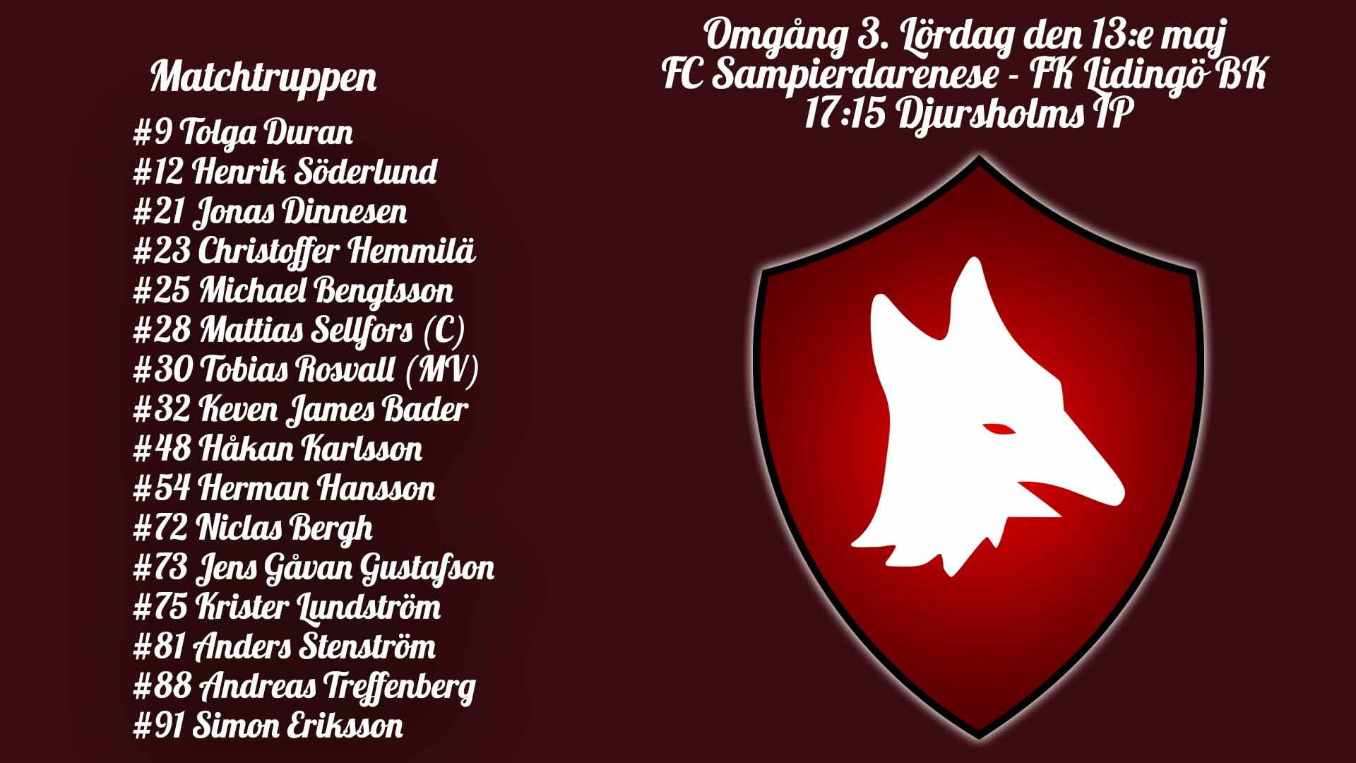 Införrapport – FC Sampierdarenese mot IFK Lidingö BK