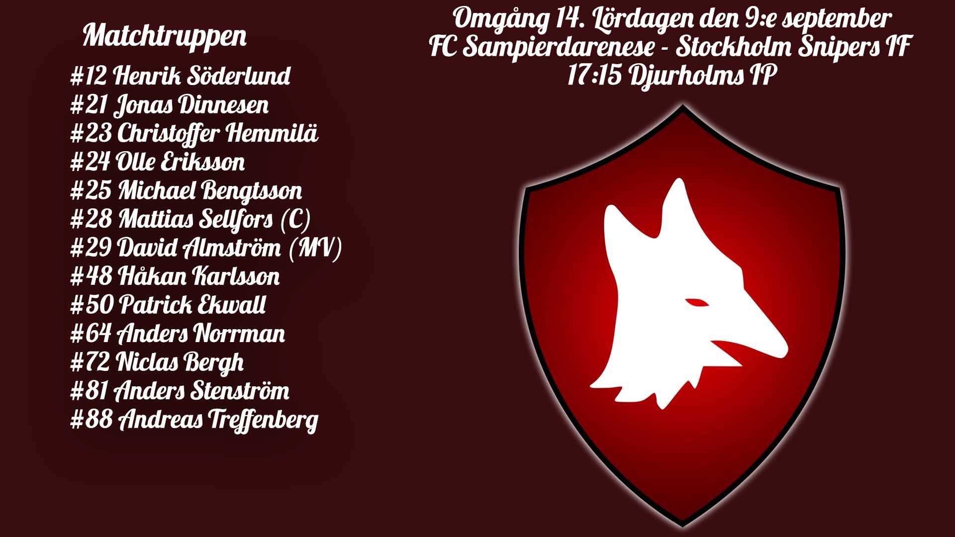 Inför: FC Sampierdarenese – Stockholm Snipers IF