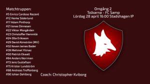 Inför omgång 2. Tolkarna – FC Samp