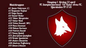 Införrapport – FC Sampierdarenese mot Tudor Arms FC