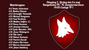 Införrapport – Kungsholms FK mot FC Sampierdarenese