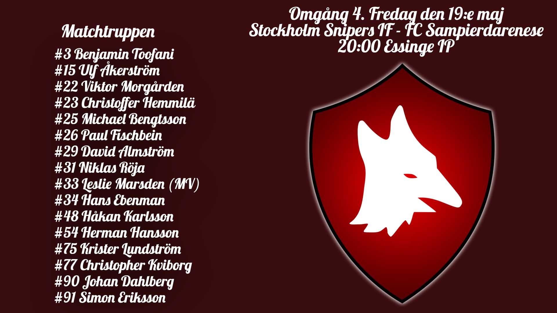 Införrapport: Stockholm Snipers IF – FC Sampierdarenese