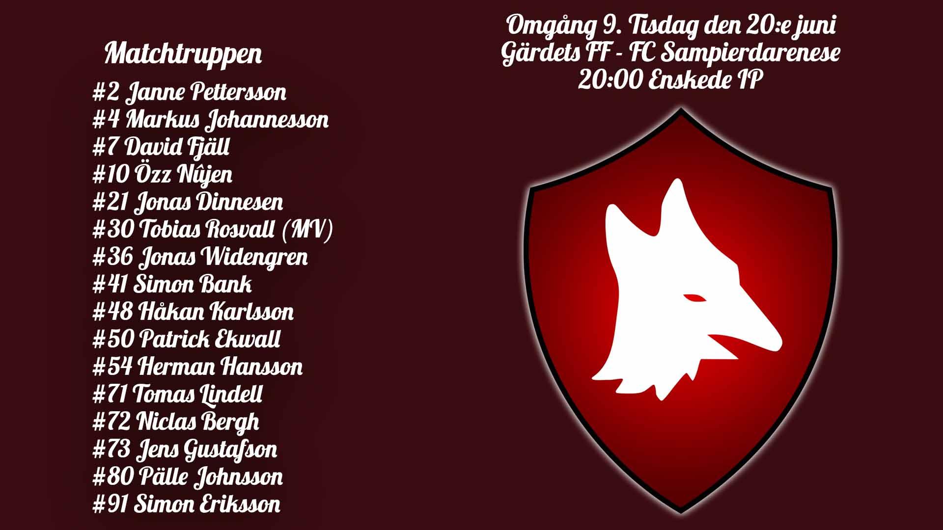 Inför: Gärdets FF – FC Sampierdarenese
