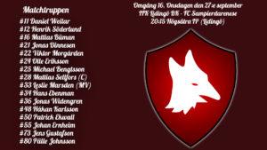 Inför FC Sampierdarenese – IFK Lidingö BK