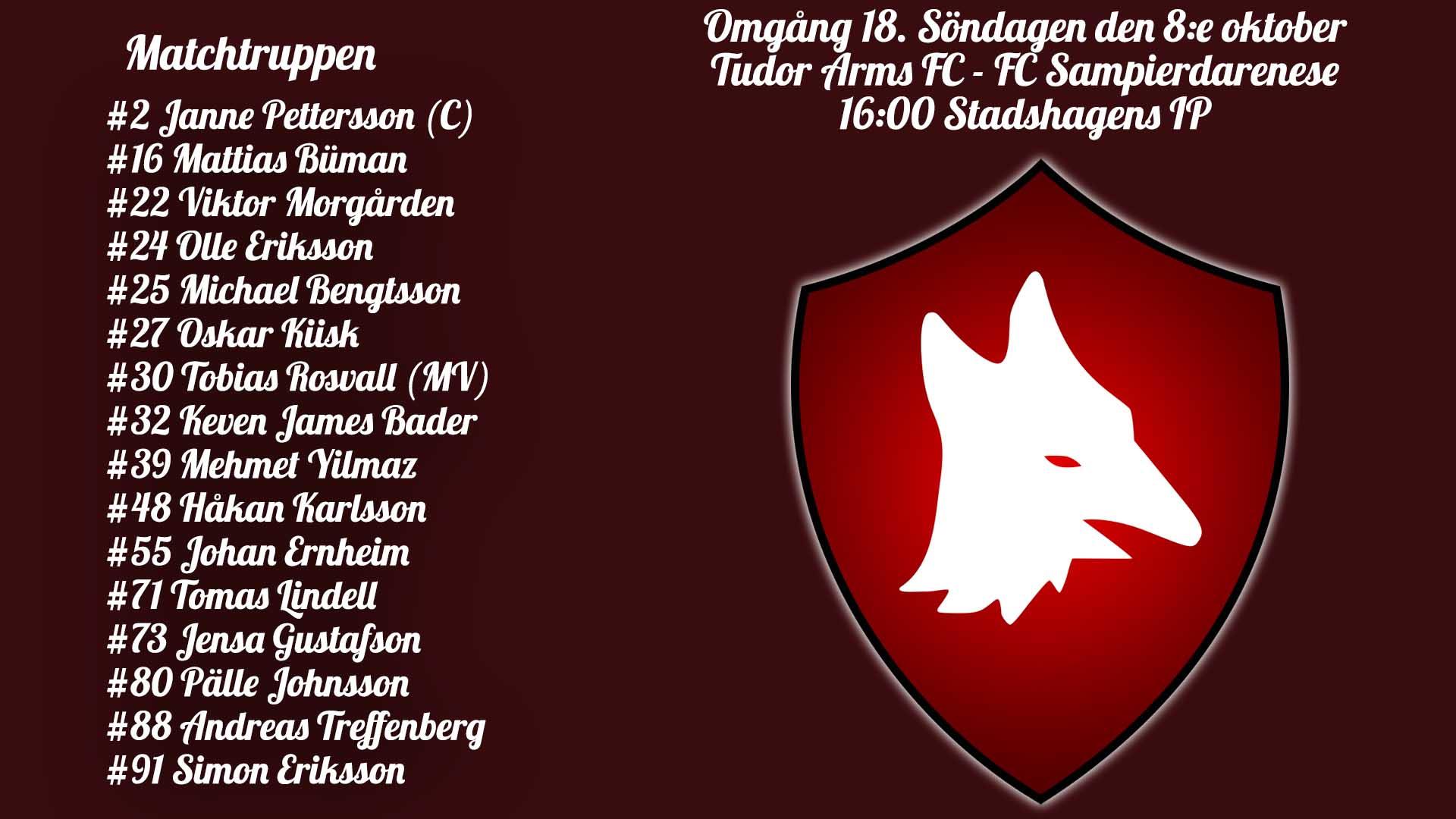 Införrapport: Tudor Arms – FC Samp