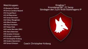 Omgång 7. Inför Kronobergs BK – FC Samp