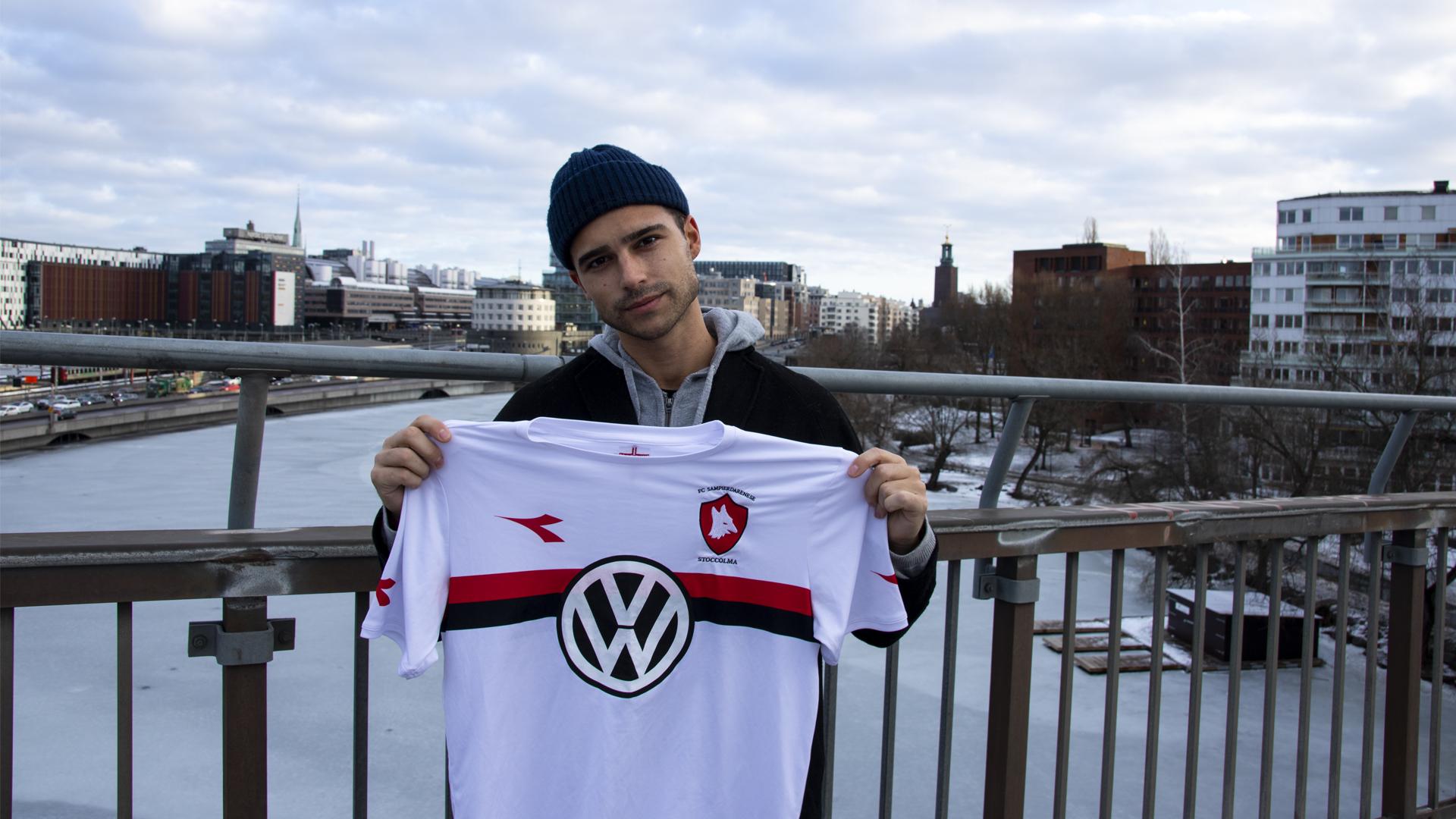 Eric Saade – FC Sampierdareneses nya stjärnvärvning